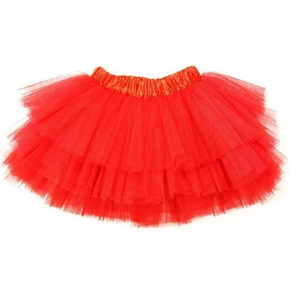 a6b45563b5f6 Shop Little Girls Red Satin Elastic Waist Triple Layer Ballet Tutu ...