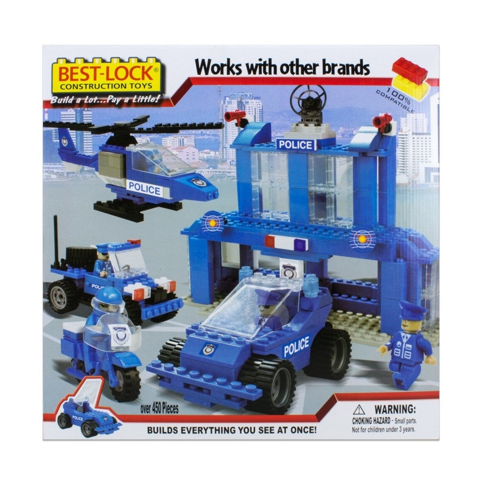 Best-Lock Construction Toys Police Department 450+ pieces! - 17.0 in. x 2.0 in. x 17.0 in. - Thumbnail 0