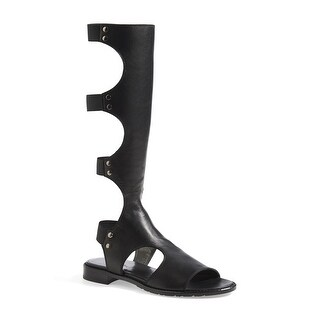Stuart Weitzman NEW Black Women's Shoes Size 4.5M Backview Sandal