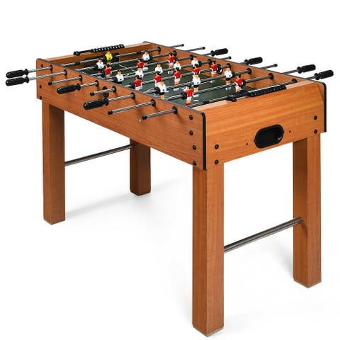 """48"""" Foosball Table Indoor Soccer Game-Brown - 48"""" x 23.5"""" x 31.5"""" (L x W x H)"""