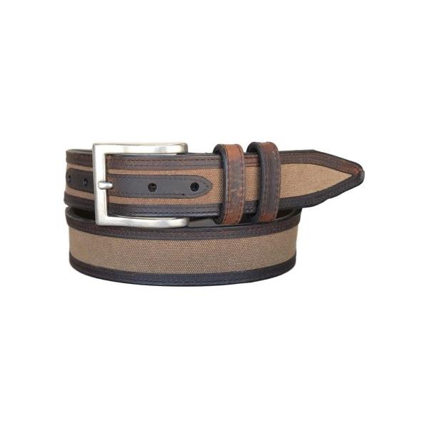 Vintage Bison Western Belt Mens Oxford Leather Two Tone Saddle