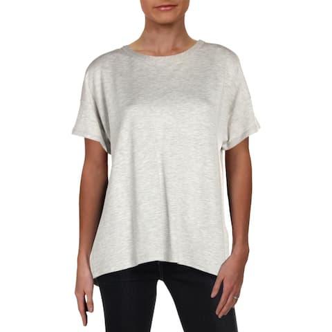 Rag & Bone Womens Kat T-Shirt Heathered Jewel Neck