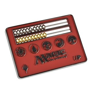 Card Size Red Abacus Life Counter for Magic: The Gathering - multi