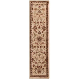 Surya RLY5026-275 Riley 2' x 7' Runner Polypropylene Power Loomed Traditional Ar - Beige