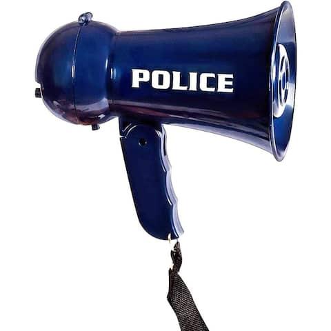 IQ Toys Pretend Play Kids Police Megaphone with Siren Sound