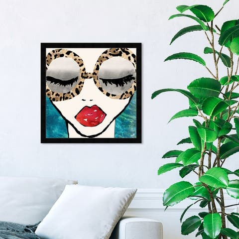 Oliver Gal 'Ready for the Sea' Fashion and Glam Wall Art Framed Print Portraits - Blue, Red