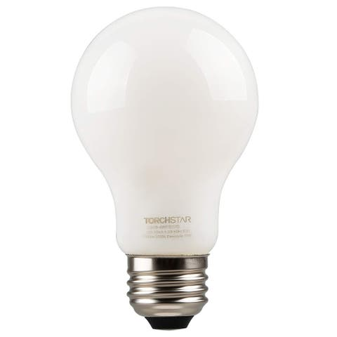 TORCHSTAR 4.5W LED Dimmable A19 Frosted Glass Filament Light Bulb