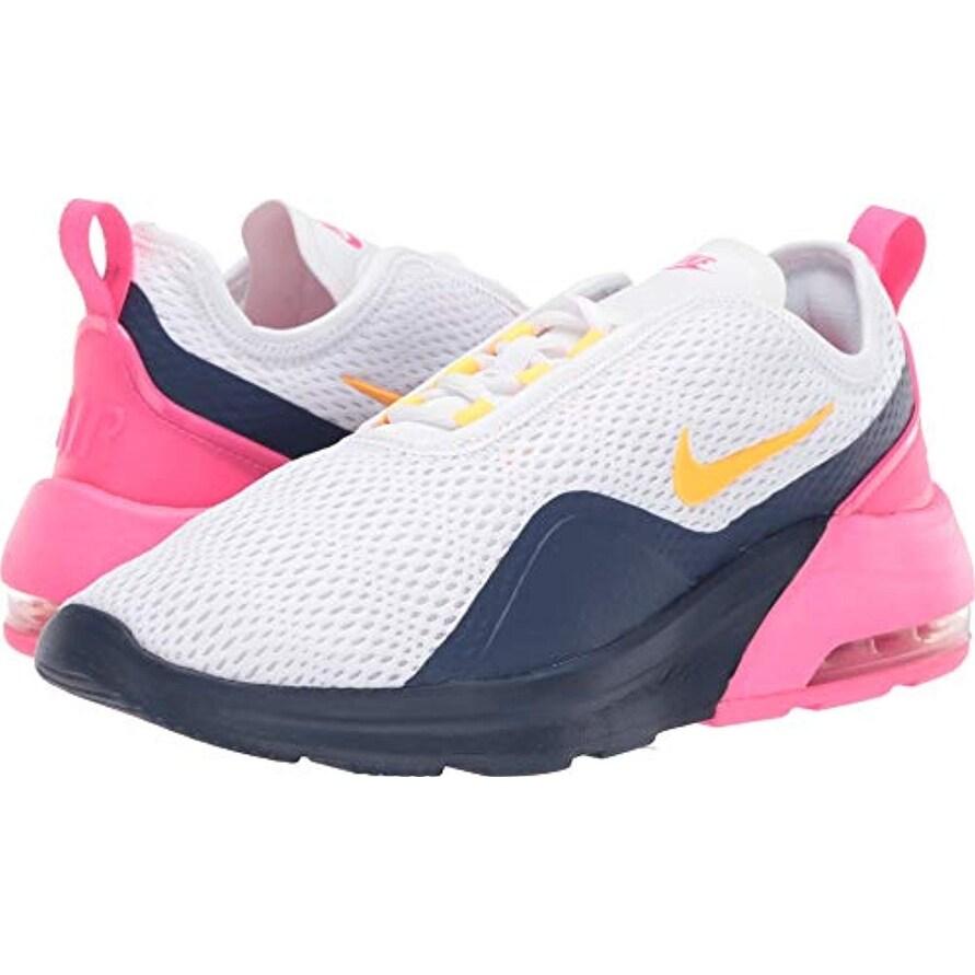 Nike Women's Air Max Motion 2 WhiteLaser OrangeMidnight Navy 10 B US