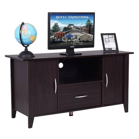 Costway Modern TV Cabinet Media Unit Storage Shelf TV Stand Media Console Furniture Home 55inch TV