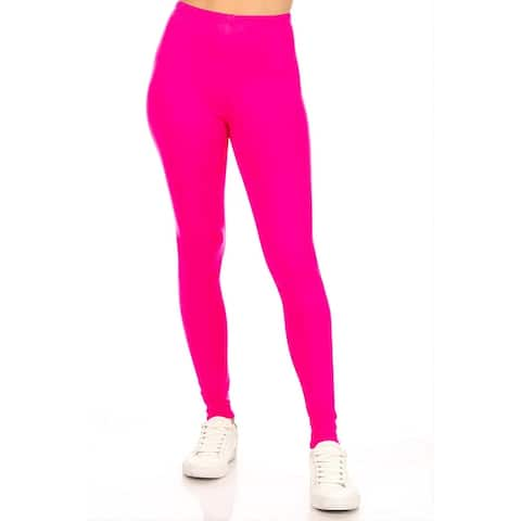 Womens Solid Yoga Workout Bottom Legging Pants