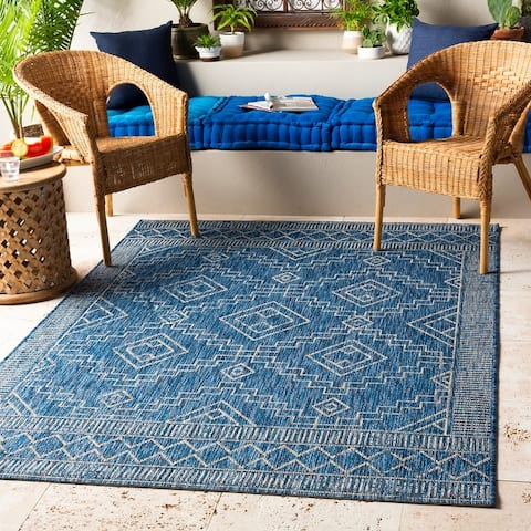 The Curated Nomad Ticonderoga Indoor/ Outdoor Moroccan Diamond Area Rug