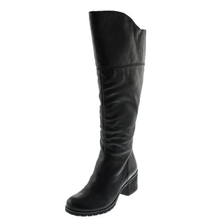 Naya Womens North Wide Shaft Leather Over-The-Knee Boots