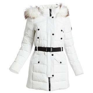 Michael Kors Active White Scuba Belted Coat