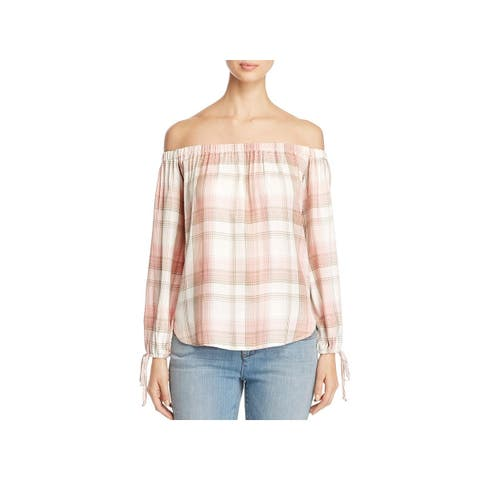 Cupio Womens Casual Top Pleated Ruched