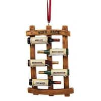 "4"" Wine Bottle Rack Decorative Christmas Ornament"