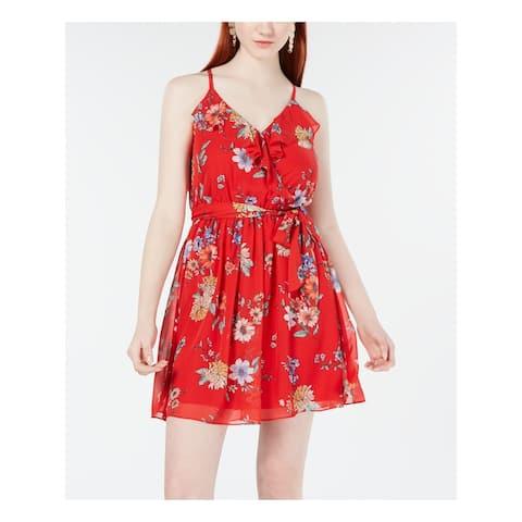BCX Red Spaghetti Strap Mini Dress XS