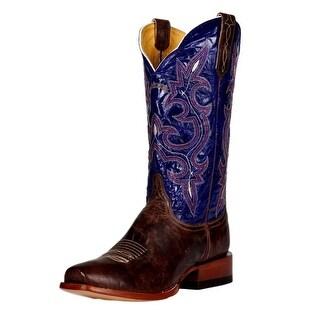 Cinch Western Boots Mens Cowboy Goat Mad Dog Blunt Bone CFM154