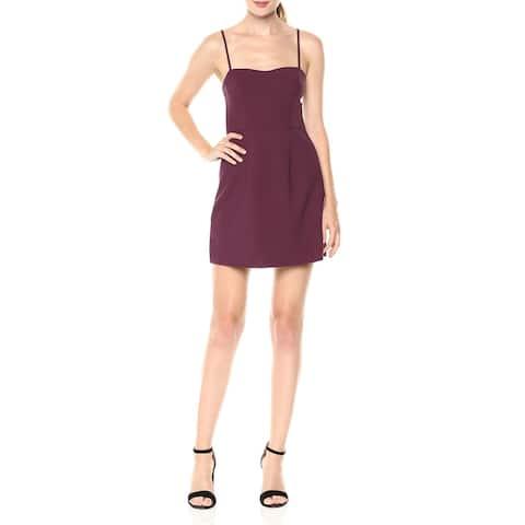 French Connection Womens Mini Dress Purple Size 4 Sweetheart Sheath