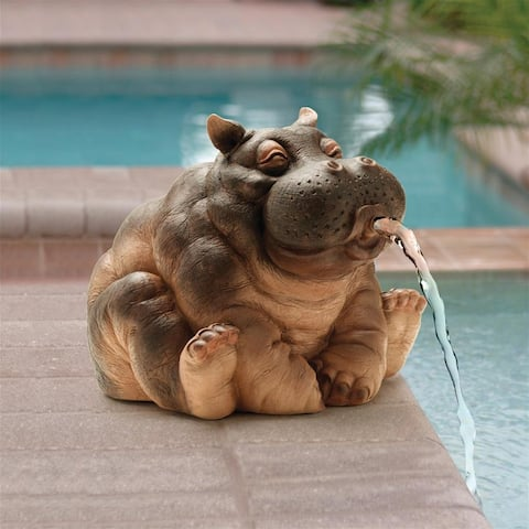 Design Toscano Hanna, the Hippo Spitter Piped Statue