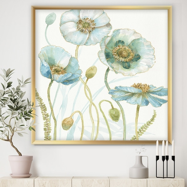 Designart 'Blue Cottage Flowers Drawing I' Farmhouse Framed Art Print. Opens flyout.