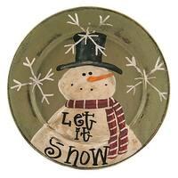 Let it Snow Snowman Plate