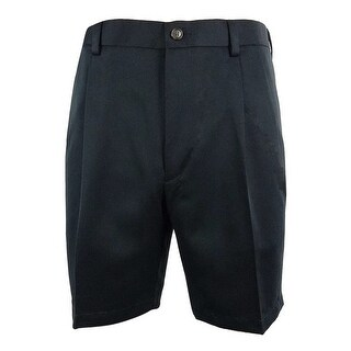 Roundtree & Yorke Men's Expander Waistband Pleated Shorts - Navy - 52 big
