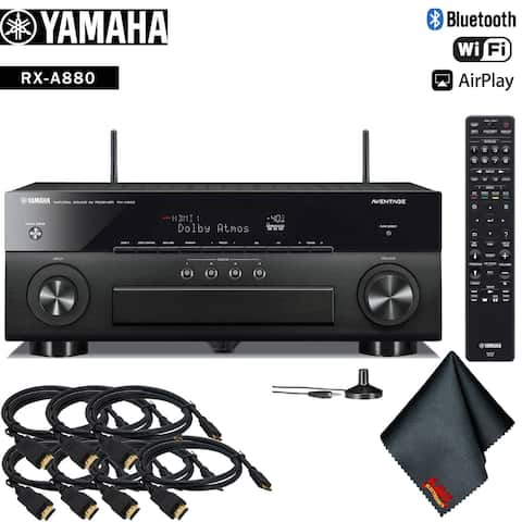 Yamaha AVENTAGE RX-A880 7.2-Channel Network A/V Receiver Accessory Kit - Includes - 7 x HDMI Cable + More!