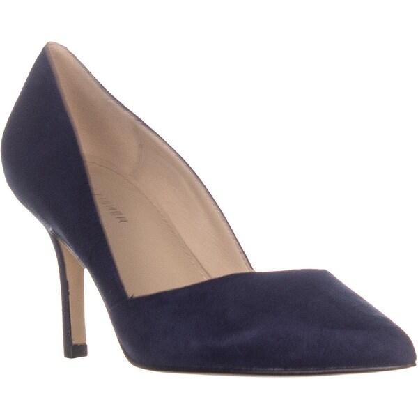 1ca5d3af6317e Shop Marc Fisher Tuscany Medium-Heel Classic Pumps, Dark Blue Suede ...