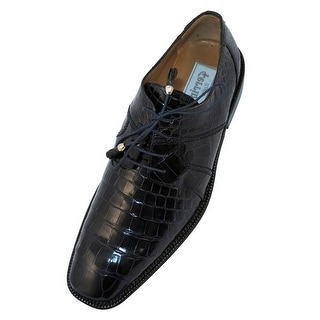 Ferrini Dress Shoes Mens Alligator Leather Lace Up Oxford F205