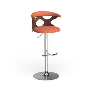 Link to Carson Carrington Viby Walnut Wood Mid Century Modern Adjustable Bar Stool Similar Items in Dining Room & Bar Furniture