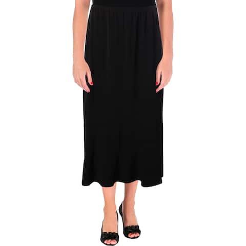 NY Collection Womens Midi Skirt Maxi Office Wear