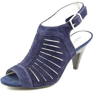 Alfani Primere Women Open-Toe Suede Blue Slingback Heel