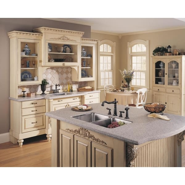 Shop Delta 2256-DST Victorian Kitchen Faucet with Side Spray ...