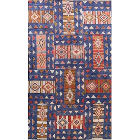 "Tribal Geometric Modern Moroccan Oriental Area Rug Wool Handmade - 10'6"" x 14'2"""