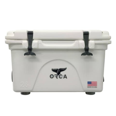 ORCA ORCW026 Durable Roto-Molded White Cooler, 26 Qt