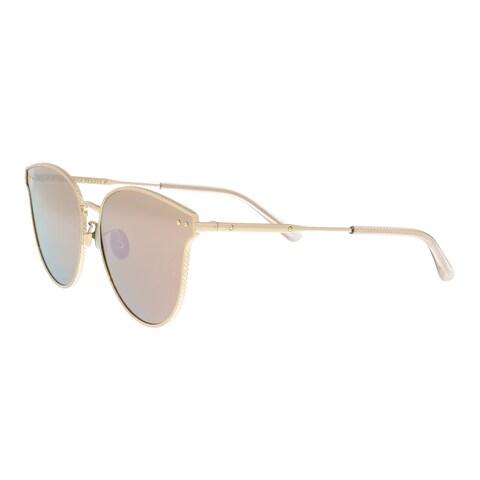 Bottega Veneta BV0157SK 001 Gold Cateye Sunglasses