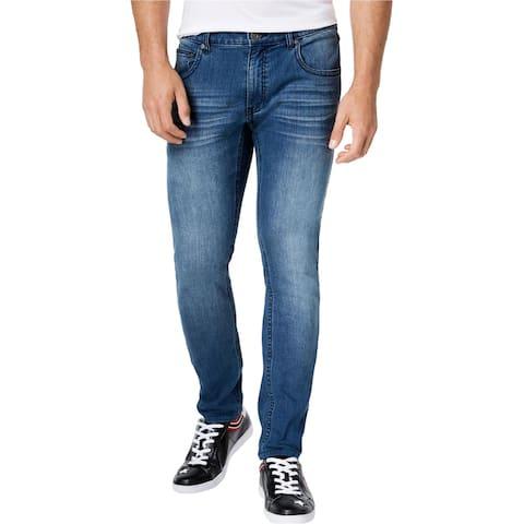 I-N-C Mens Denim Skinny Fit Jeans, Blue, 30W x 30L