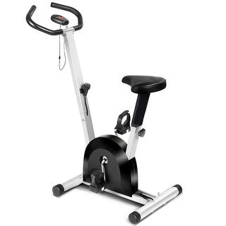 Costway Exercise Bike Cardio Fitness Gym Cycling Machine Gym Workout Training Stationary - Black