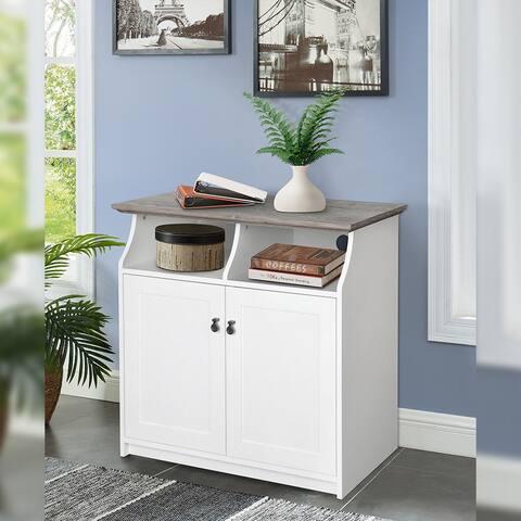 Carstyn White 2-door Vertical Filing Cabinet