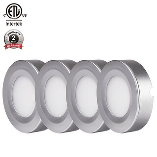 TORCHSTAR LED Under Cabinet Lighting Kit:4pcs 2W LED Puck Lights,Warm White