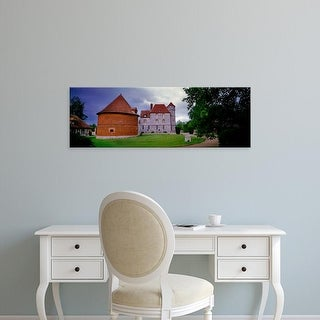 Easy Art Prints Panoramic Image 'Dovecote in front of a castle, Chateau De Vascoeuil, Normandy, France' Canvas Art