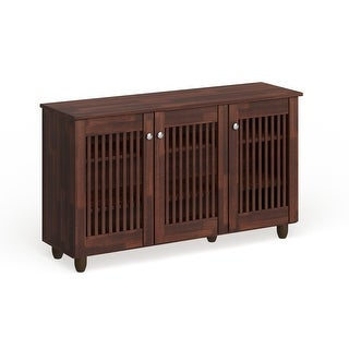 Link to Copper Grove Angelina Dark Brown 3-door Shoe Cabinet Similar Items in Bookshelves & Bookcases