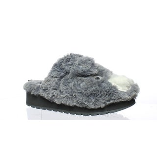 Bobs By Skechers Womens 31249 Gray Mule Slippers Size 7.5