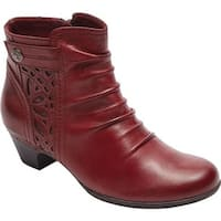 Rockport Women's Cobb Hill Abilene Ankle Boot Bordeaux Leather