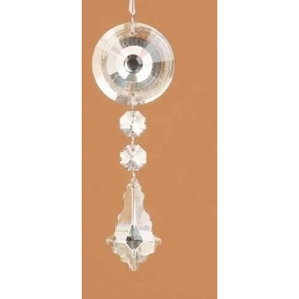 """5.5"""" Clear Glass Dangling Pendant Christmas Ornament"""