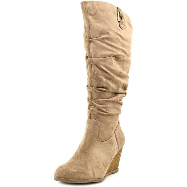 4324fd1aba11 Shop Dr. Scholl s Poe Wide Calf Women Round Toe Canvas Tan Knee High ...