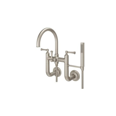 Pfister LG6-3TB Tisbury Wall Mounted Tub Filler with Hand Shower -