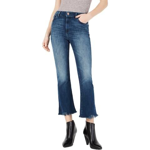 DL1961 Womens Bridget Cropped Jeans Denim Bootcut - El Camino - 26
