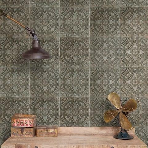 "SomerTile Saja Nero 13"" x 13"" Ceramic Floor and Wall Tile"
