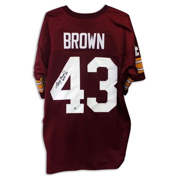 da81cb041c0 Shop Larry Brown Washington Redskins Autographed Red Jersey Inscribed